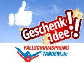 Geschenkidee Fallschirmspringen Deutschland
