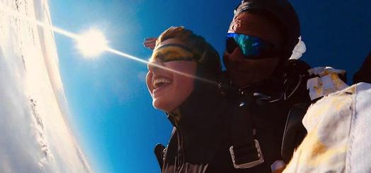 Fallschirmspringen Tandemsprung Geschenk Fallschirmsprung