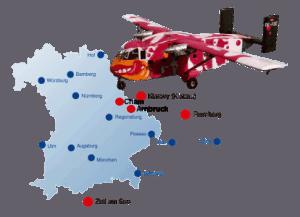 Sprungplaetze Fallschirmsprung Cham und Arnbruck