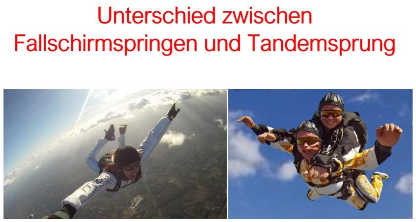 Tandemsprung vs Fallschirmspringen