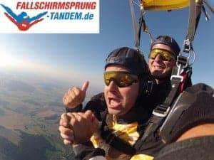 Höhenflug der Gefühle beim Tandemsprung