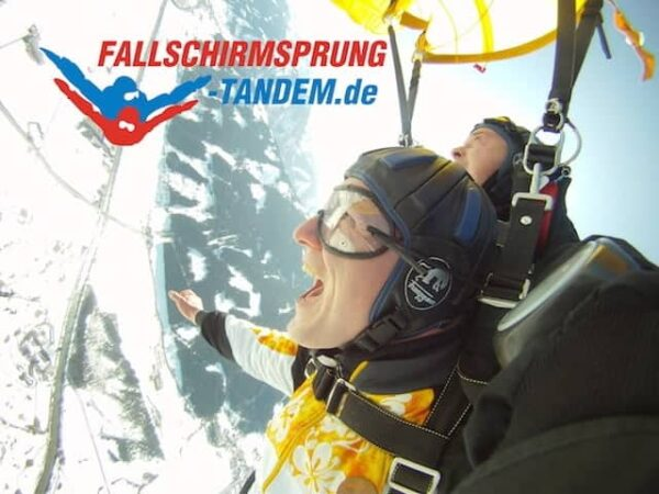 Fallschirmspringen im Winter