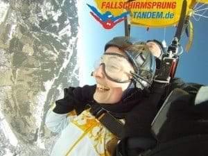 Tandemsprung beim Fallschirmsprung