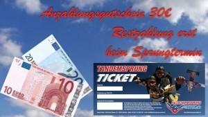 Fallschirmspringen Teil Bezahlung