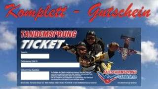 Tandemsprung Komplett Ticket