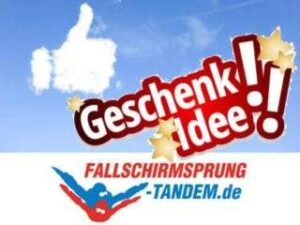 Geschenkidee Fallschirmsport Schatt - Tandemsprung Geschenk