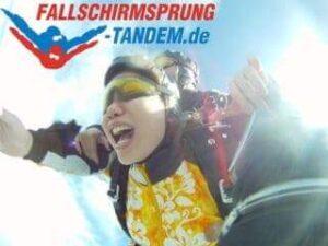 Geschenk Fallschirmsprung Freude