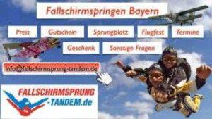 Fallschirmspringen Gutscheine Tandem Infos