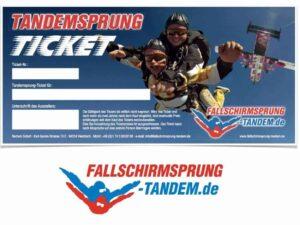 Geschenk Ticket Fallschirmspringen