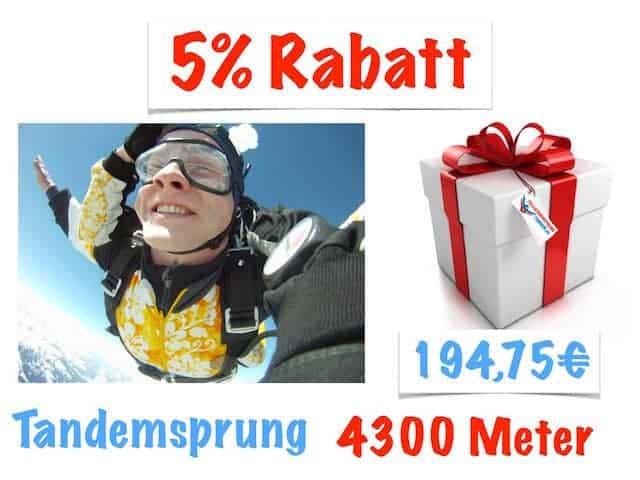 Kosten Tandemsprung Rabatt