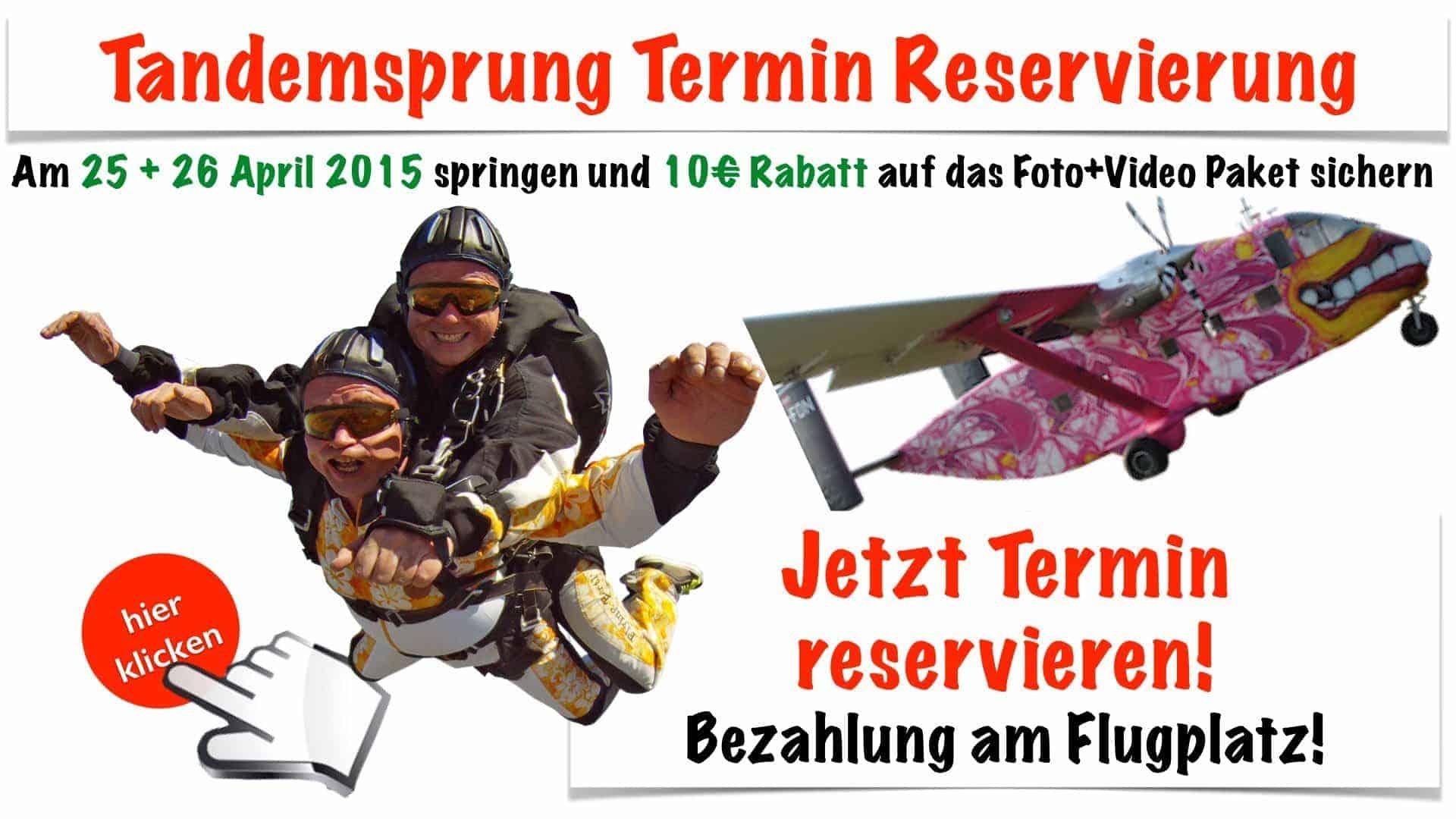 Tandem Fallschirmspringen Termin