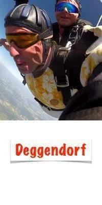 Deggendorf Fallschirm springen Geschenk