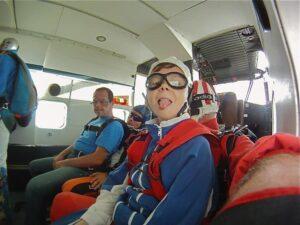 Fallschirmspringen alleine