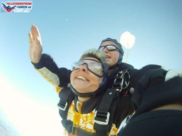 Freifall Dauer aus 4300 Meter