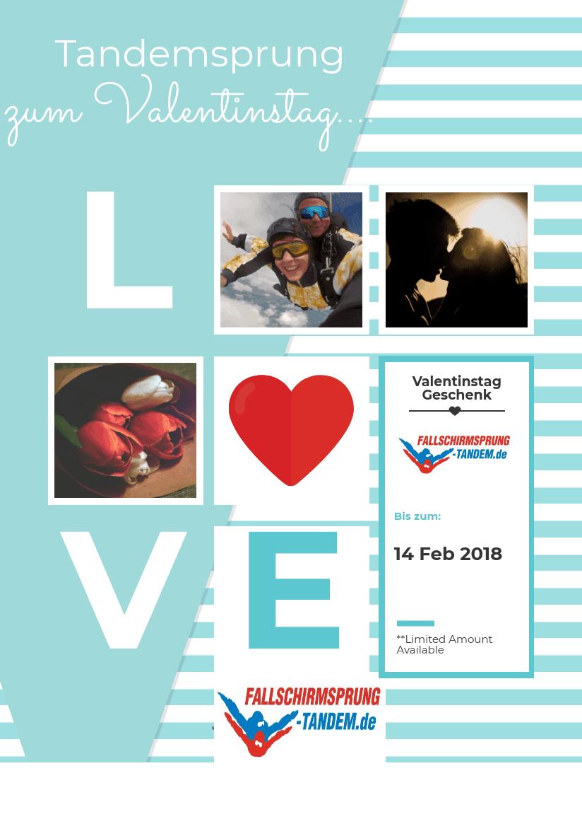 Tandemsprung Valentinstag 2018 Fallschirmspringen - Tandemsprung
