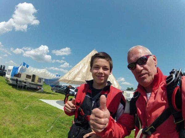 Fallschirmspringen Fromberg Niederösterreich 2017 Tandemsprung