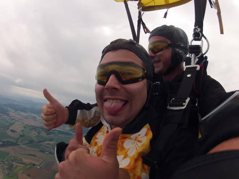 Fallschirm Sprung Kunden aus Hutthurm Bayern