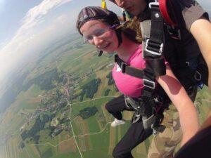 Tandem schenken Fallschirmspringen