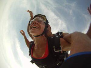 Höhe Fallschirmspringen