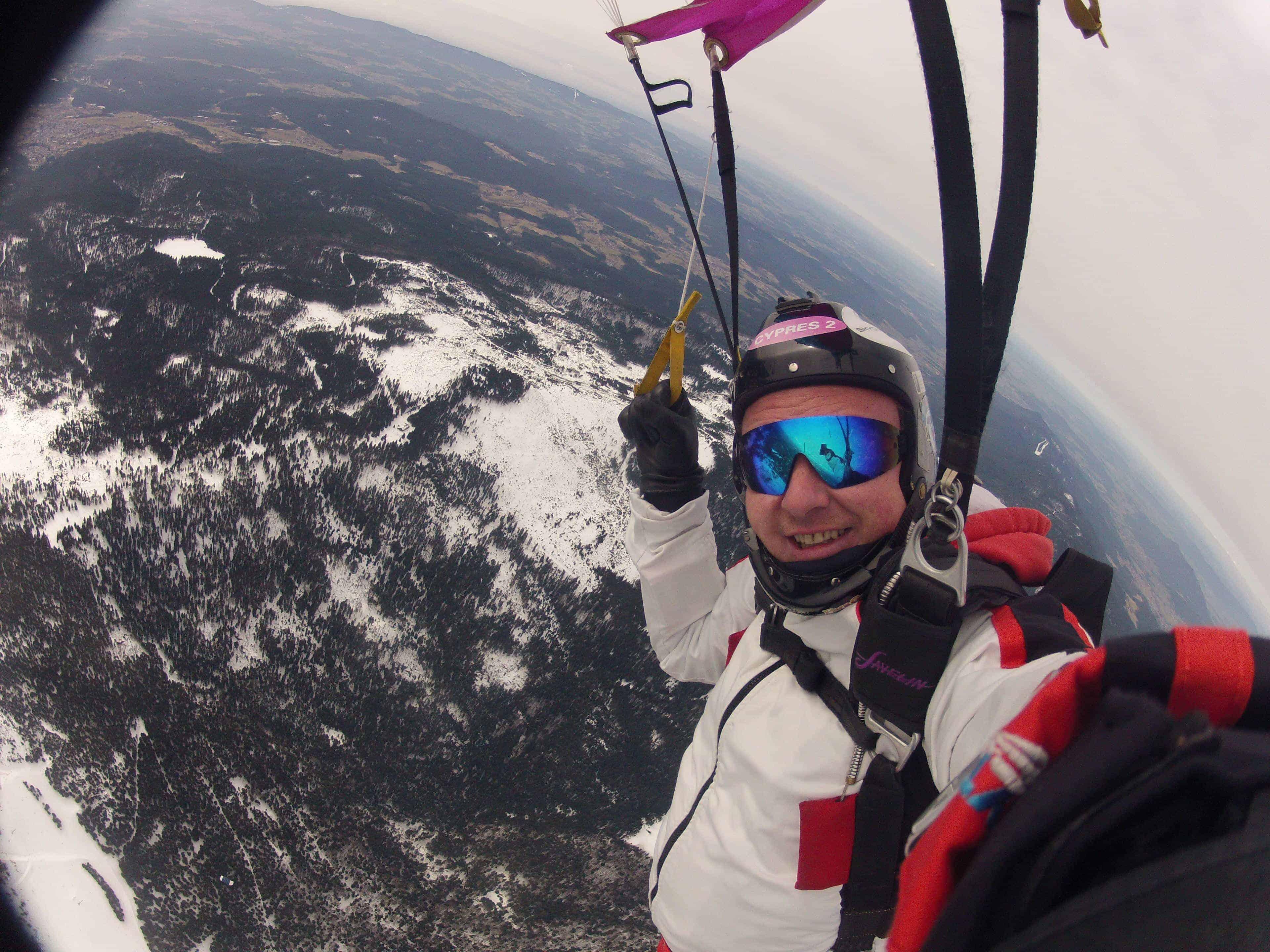 Großer Arber Fallschirmspringer