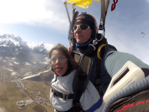 Fallschirm Tandemsprung Kinder