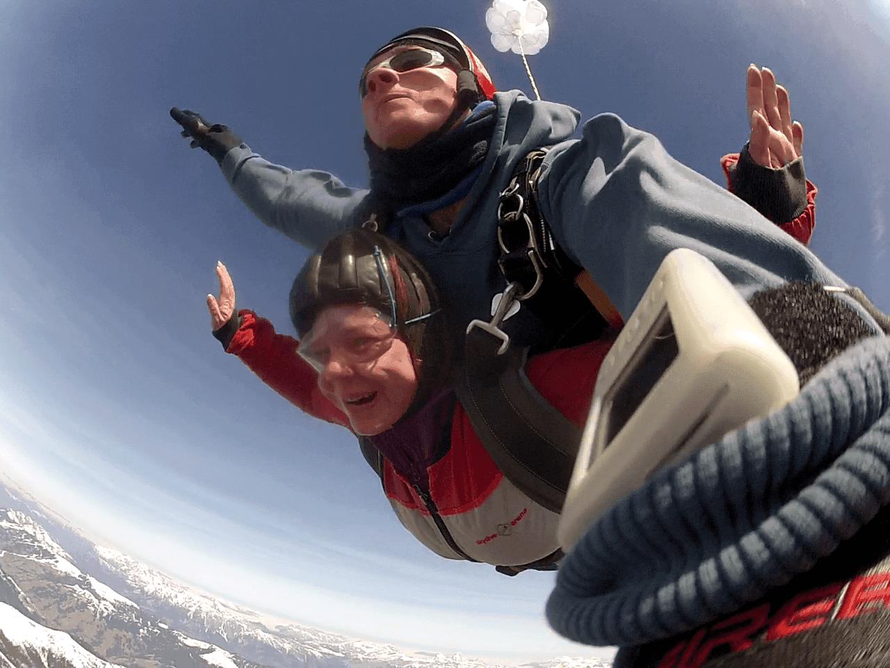 Tandemsprung Familie Ausflug