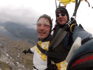 Fallschirm Schirmfahrt Tandem