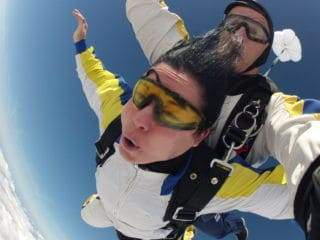 Fallschirmspringen Lauf Tandemsprung