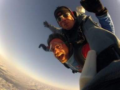 Fallschirmspringen Ansbach Bayern Tandemsprung
