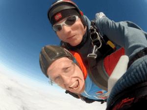 Fallschirmspringen Fürth Oberasbach Kunde Tandemsprung