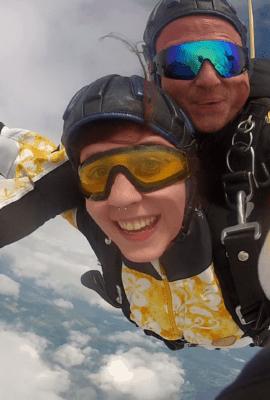 Fallschirmspringen Niederrunding Tandem