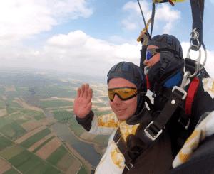 Tandemsprung Erlangen Fallschirmspringen Passagier