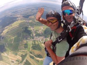 Tandemsprung Fallschirmspringen Kirchberg am Walde