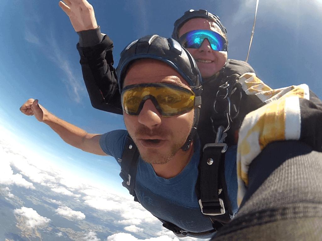 Tandemsprung Fromberg Tandem Fallschirmspringen