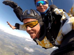 Fallschirmspringen Altheim Tandemsprung
