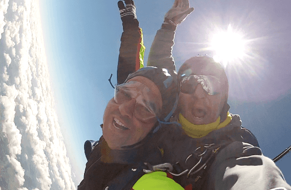 Fallschirmspringen Donaustauff Kunde Tandemsprung