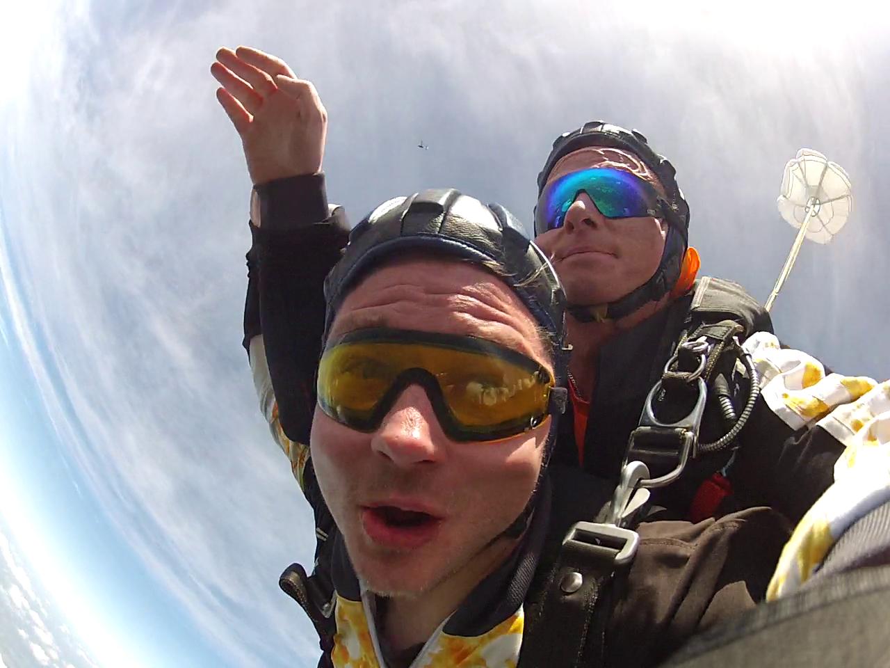 Fallschirmspringen Erding Tandemsprung Kunde