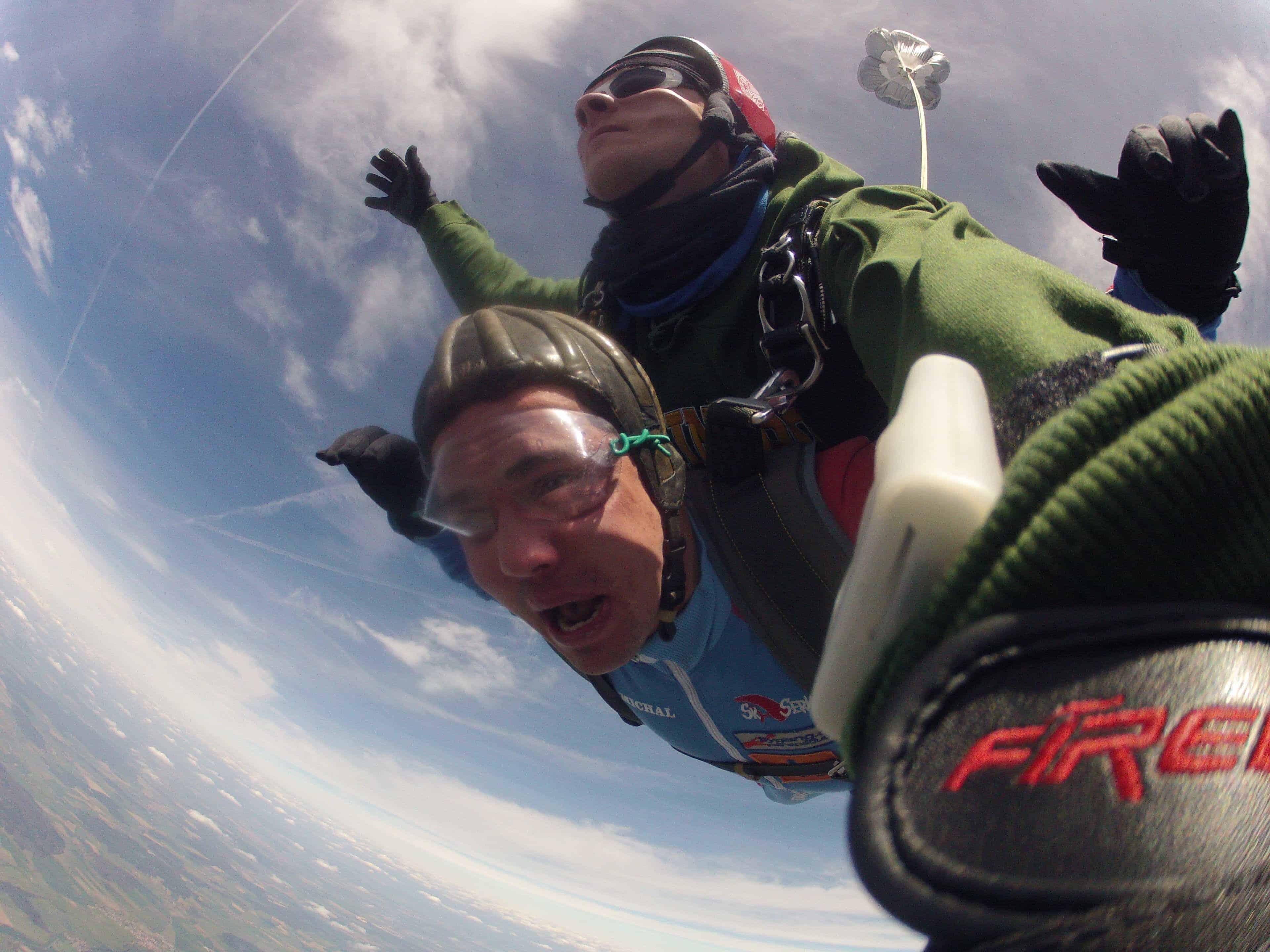 Fallschirmspringen Harburg Schwaben Tandemsprung