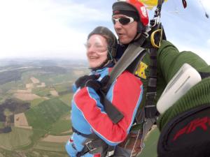 Fallschirmspringerin Hirschau Tandemsprung