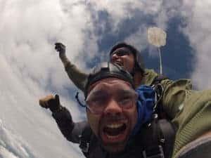 Fallschirmspringen Sistrans Österreich Tandemsprung Kunde