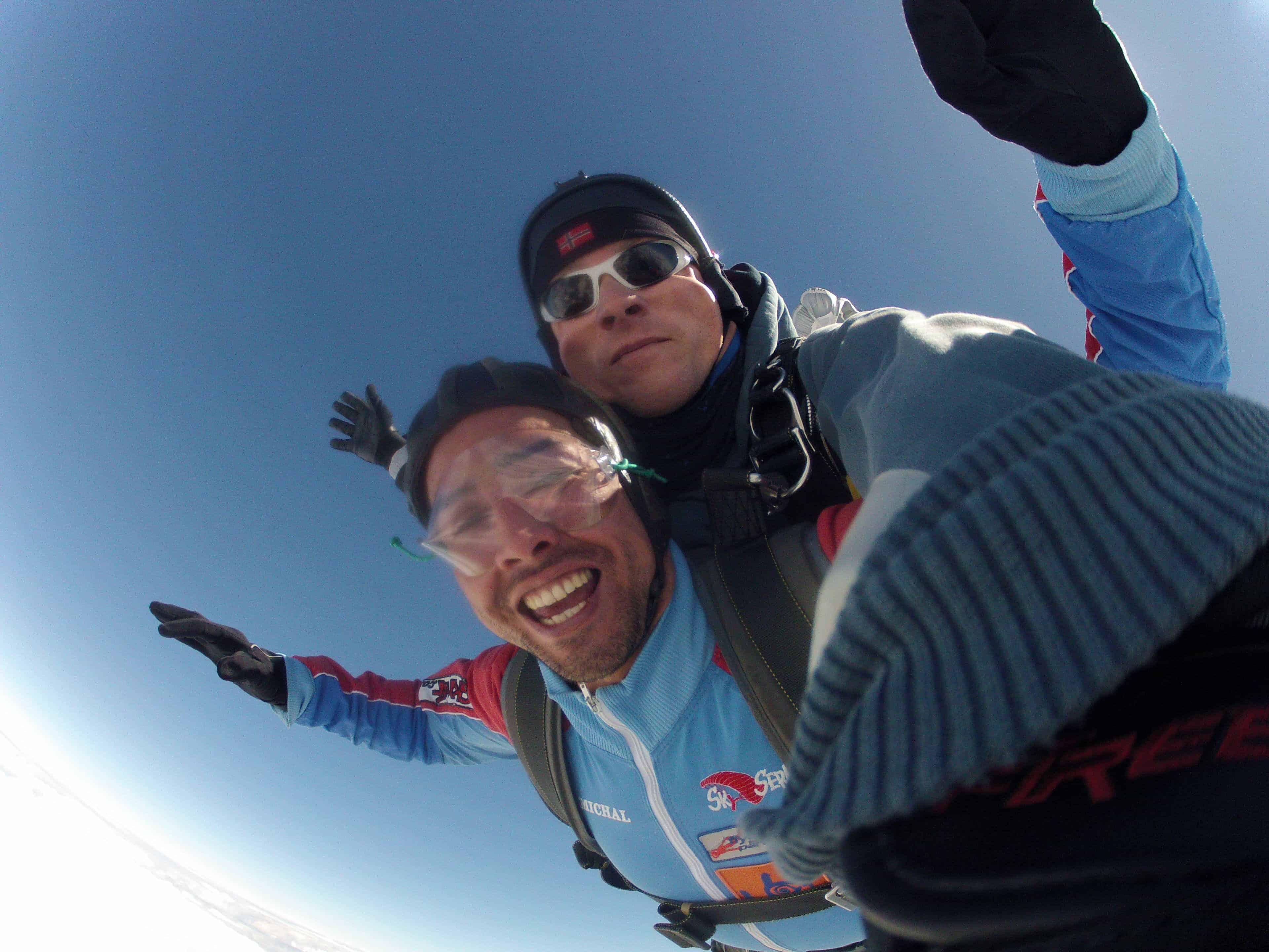 Fallschirmspringen München Kunde Tandemsprung