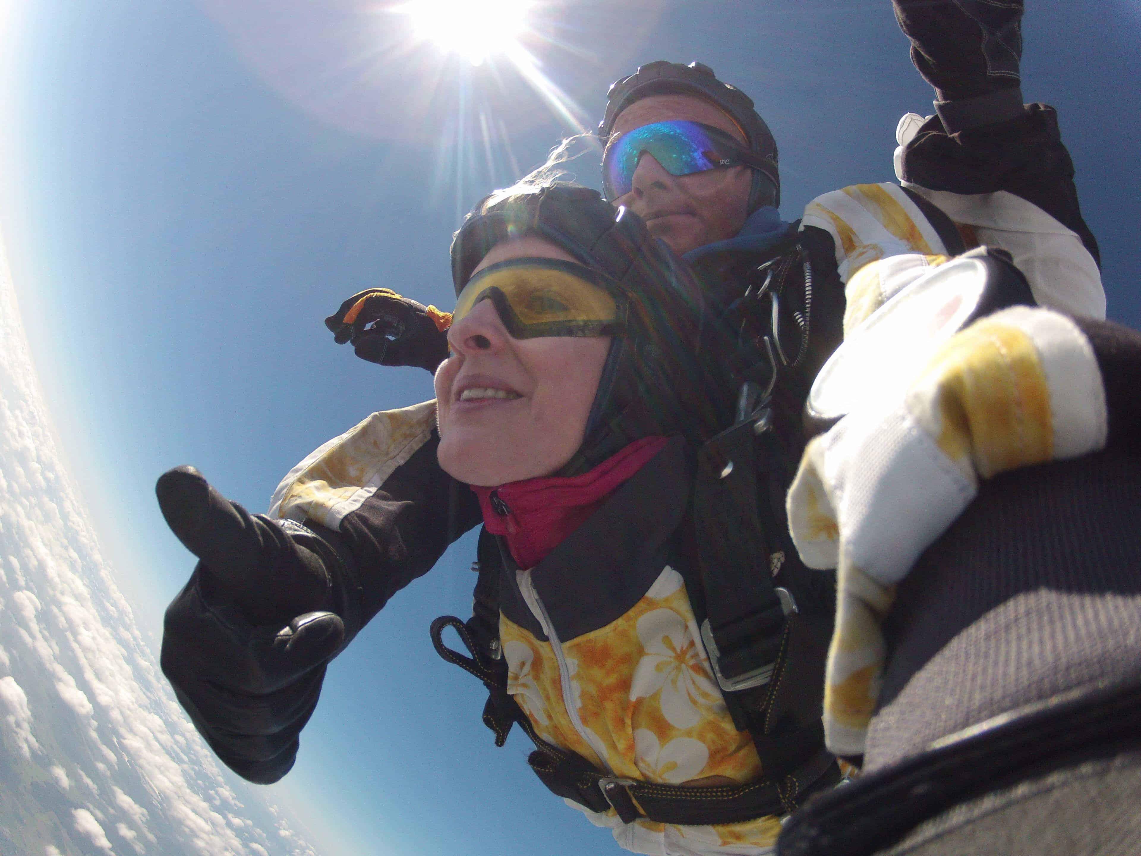 Fallschirmspringen Kundin Prackenbach Tandemsprung