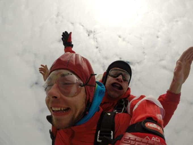 Fallschirmsprung Tiefenbach Kunde Tandemsprung