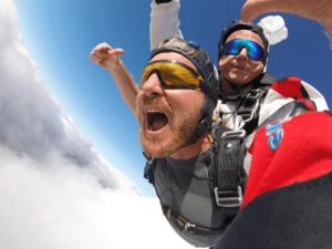 Fallschirmspringen Bad Kötzting Tandemsprung Thomas