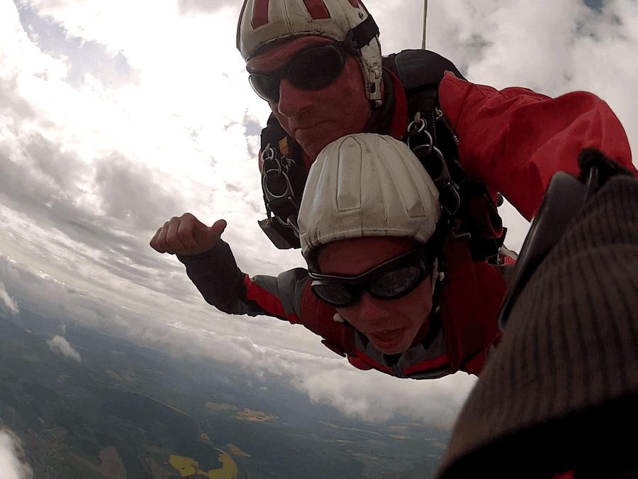 Fallschirmsprung Moritz aus Berchtesgaden