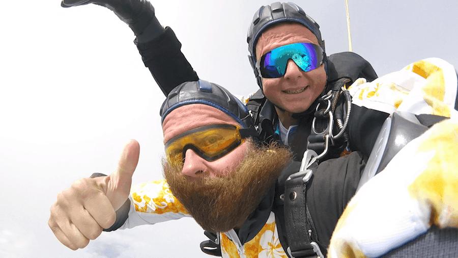 Fallschirmspringen Berchtesgaden Tandemsprung Martin