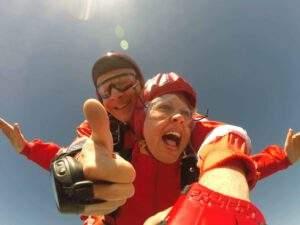 Fallschirmspringen Neunburg Tandemsprung Anke