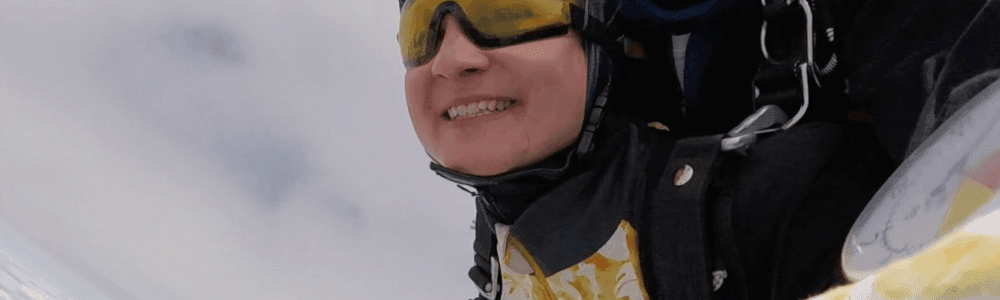 Nürnberg Fallschirmspringen Tandemsprung Julia