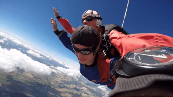 Fallschirmspringen Euskirchen Dahlem Nordrhein Westfalen Tandemsprung