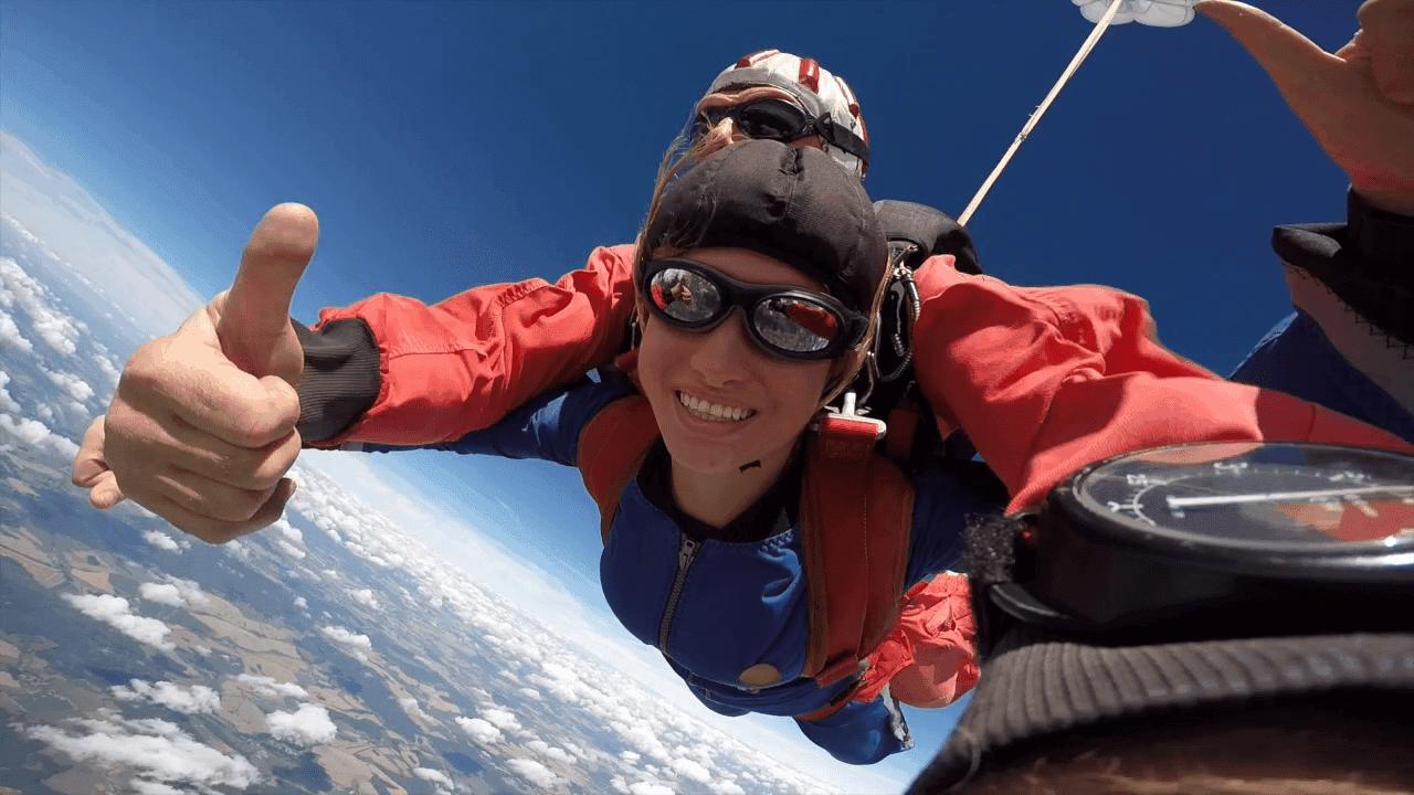 Tandemsprung Gera Fallschirmspringen Thüringen